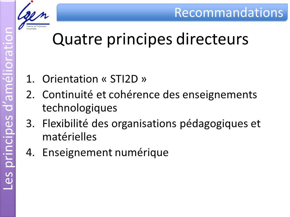 Quatre principes directeurs