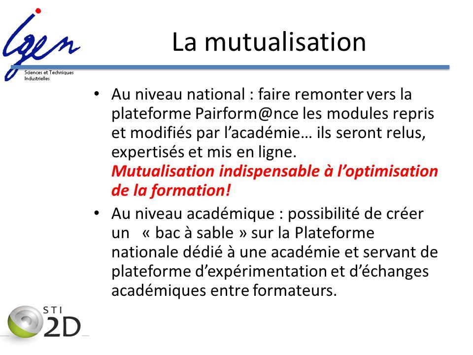 La mutualisation