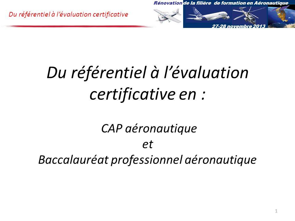 Rénovation de la filière de formation en Aéronautique