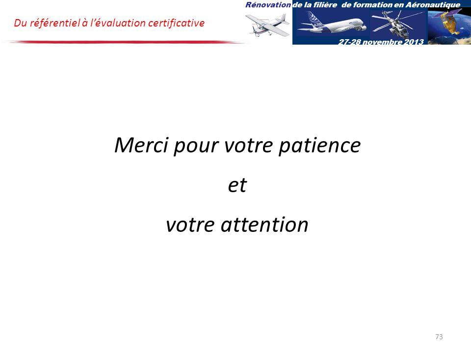 Merci pour votre patience