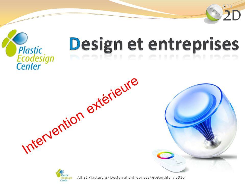 Design et entreprises Intervention extérieure