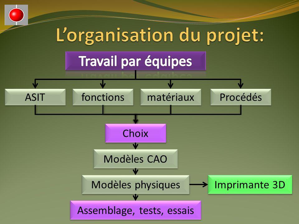 L'organisation du projet: