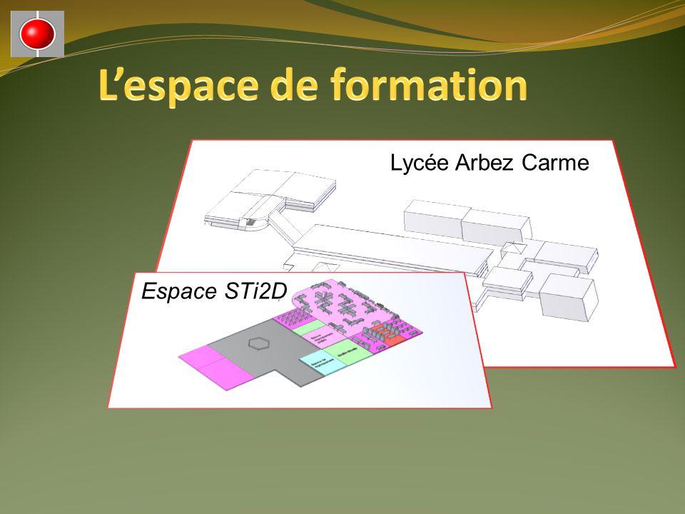 L'espace de formation Lycée Arbez Carme Espace STi2D