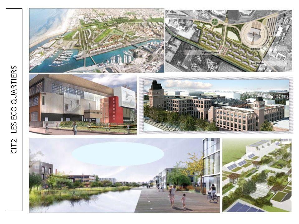 CIT2 LES ECO QUARTIERS Quelques exemples d'éco quartiers qui vont nous servir de support: