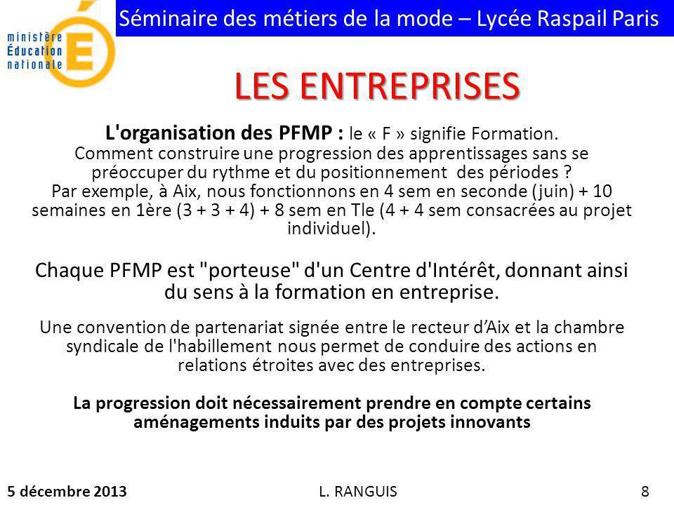 L organisation des PFMP : le « F » signifie Formation.