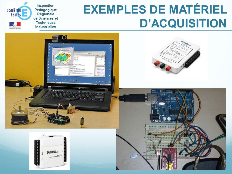 EXEMPLES DE MATÉRIEL D'ACQUISITION