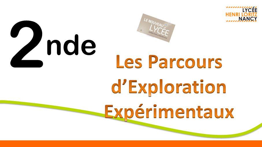 Les Parcours d'Exploration Expérimentaux