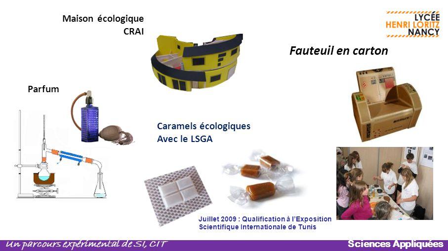 Fauteuil en carton Maison écologique CRAI Parfum Caramels écologiques