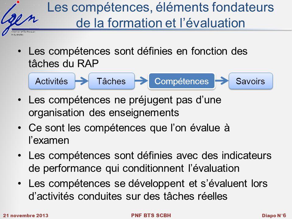 Les compétences, éléments fondateurs de la formation et l'évaluation