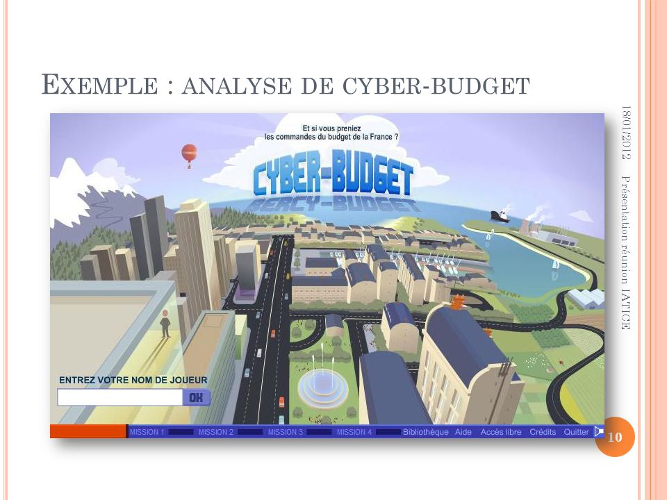 Exemple : analyse de cyber-budget