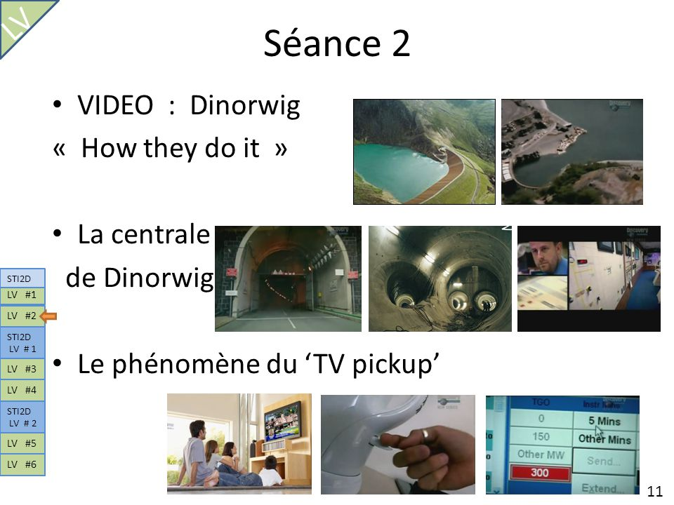 Séance 2 LV VIDEO : Dinorwig « How they do it » La centrale
