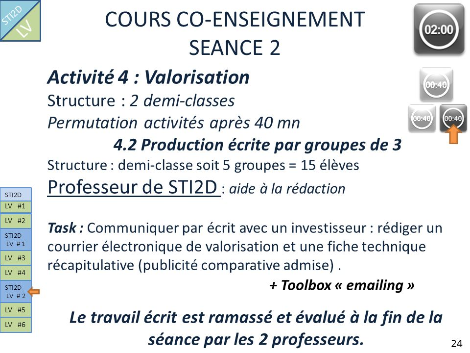 COURS CO-ENSEIGNEMENT SEANCE 2