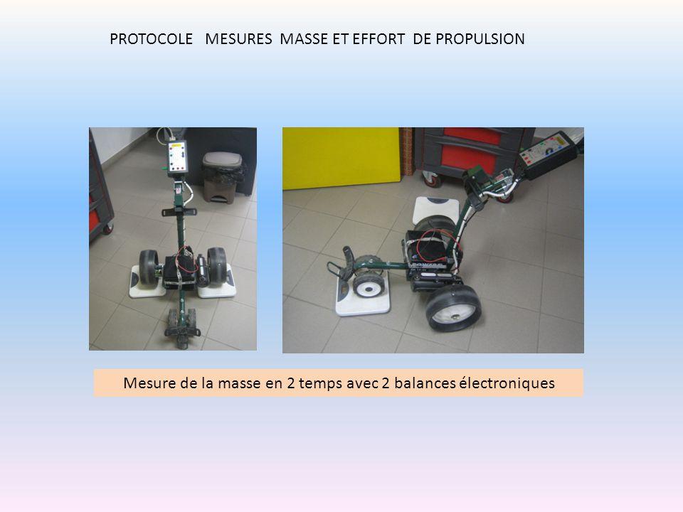 Mesure de la masse en 2 temps avec 2 balances électroniques