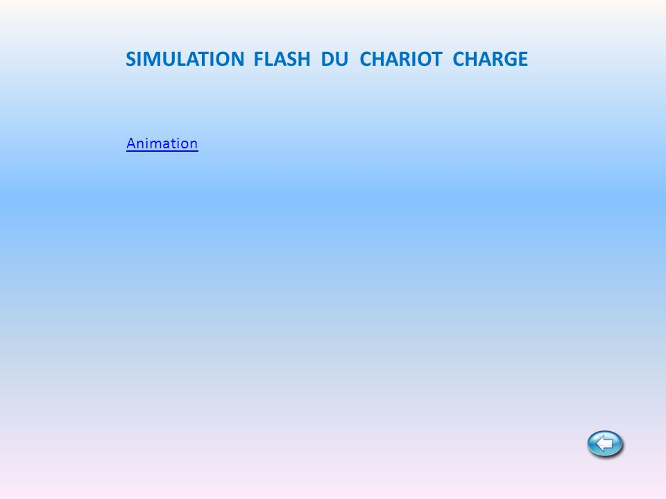 SIMULATION FLASH DU CHARIOT CHARGE