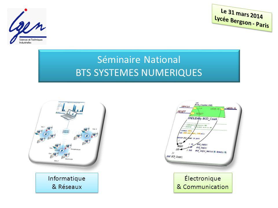 Séminaire National BTS SYSTEMES NUMERIQUES