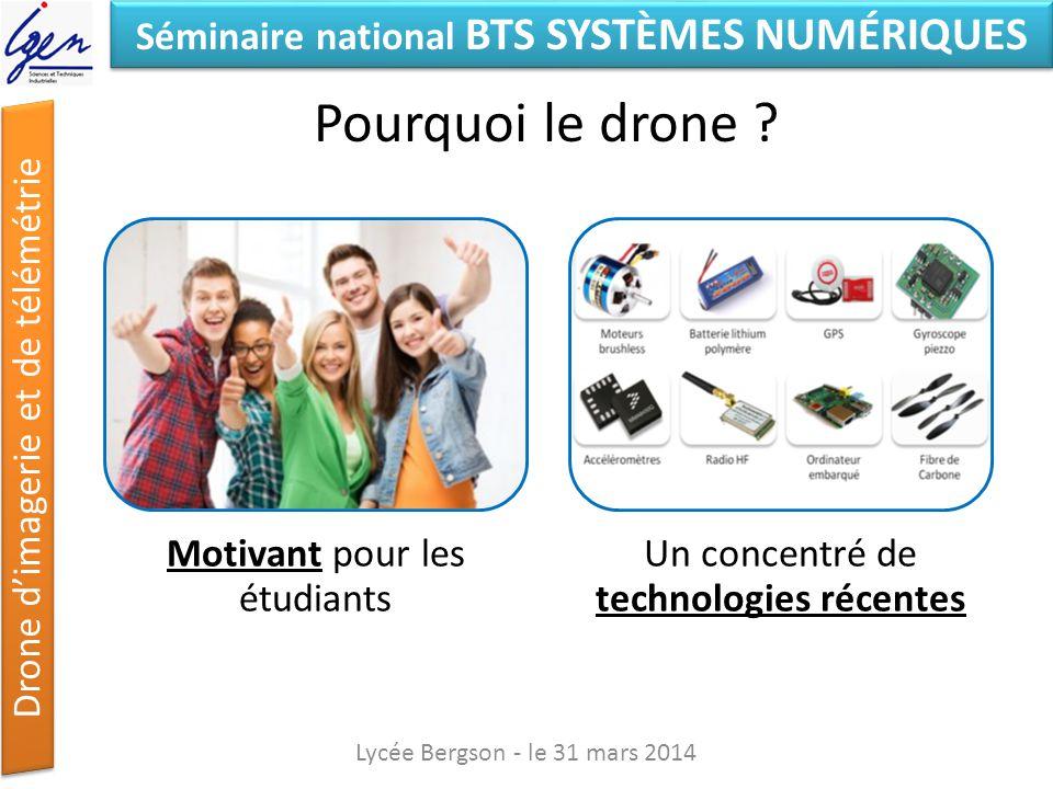 Pourquoi le drone Lycée Bergson - le 31 mars 2014