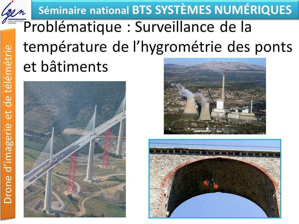Problématique : Surveillance de la température de l'hygrométrie des ponts et bâtiments