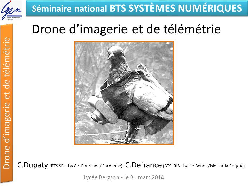 Drone d'imagerie et de télémétrie