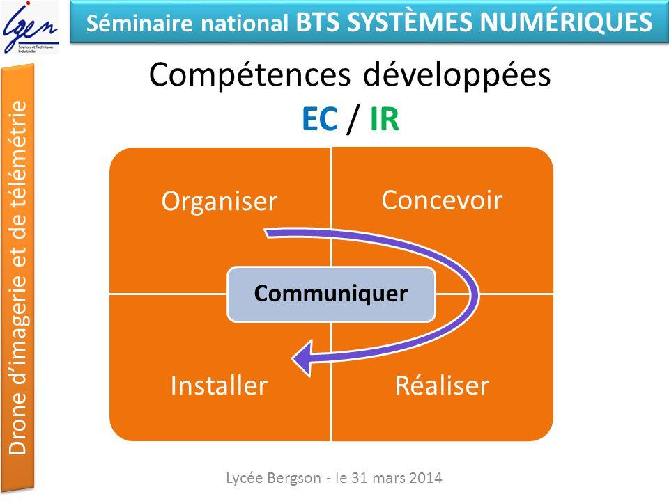 Compétences développées EC / IR
