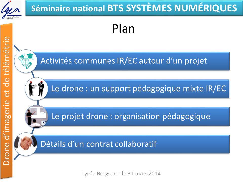 Plan Activités communes IR/EC autour d'un projet