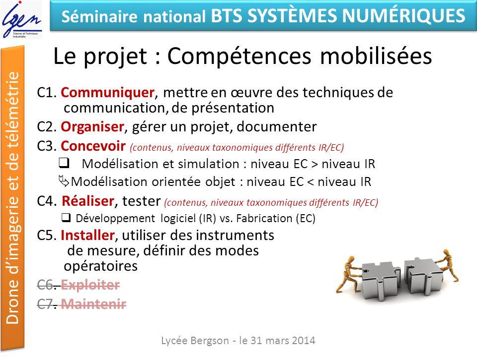 Le projet : Compétences mobilisées