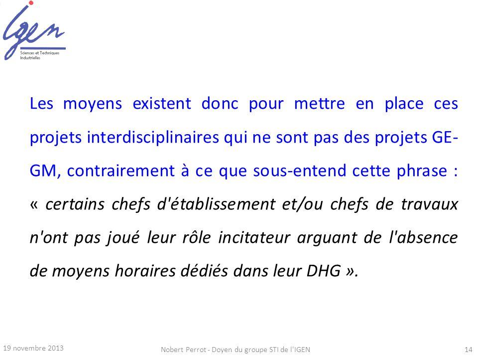 Nobert Perrot - Doyen du groupe STI de l IGEN