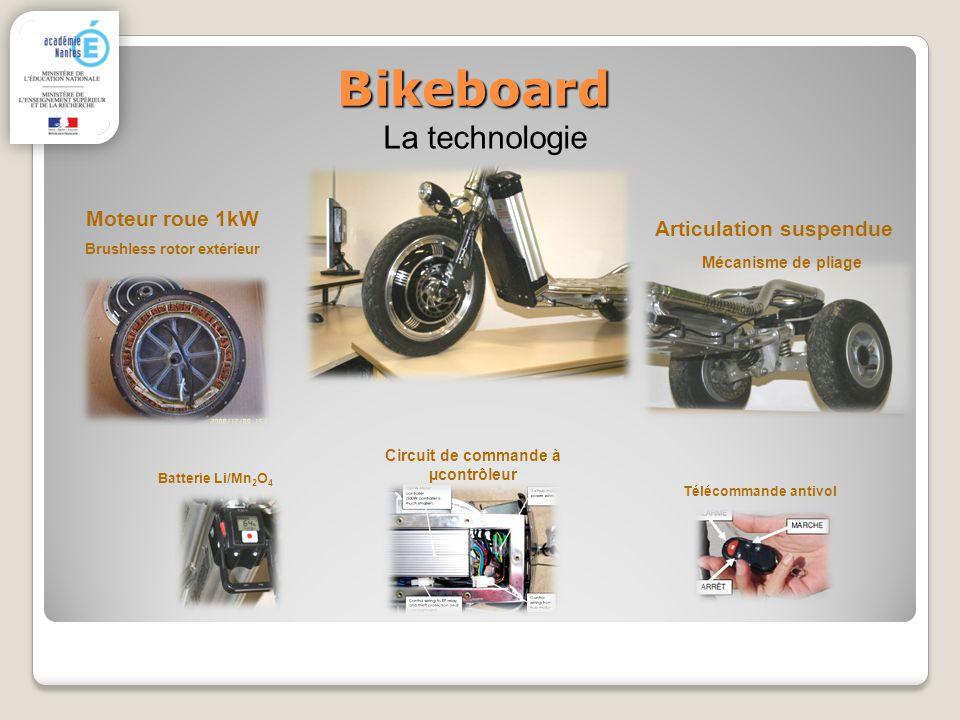 Bikeboard La technologie Moteur roue 1kW Articulation suspendue
