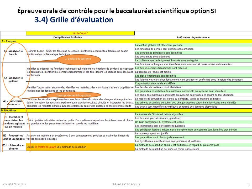 Épreuve orale de contrôle pour le baccalauréat scientifique option SI