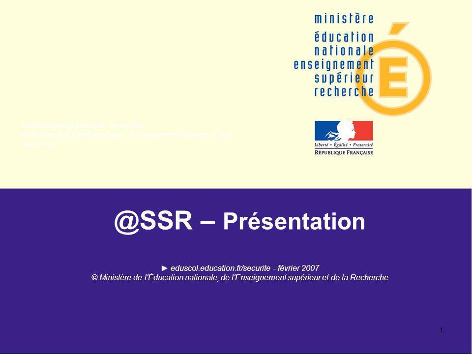@SSR – Présentation ► eduscol. education