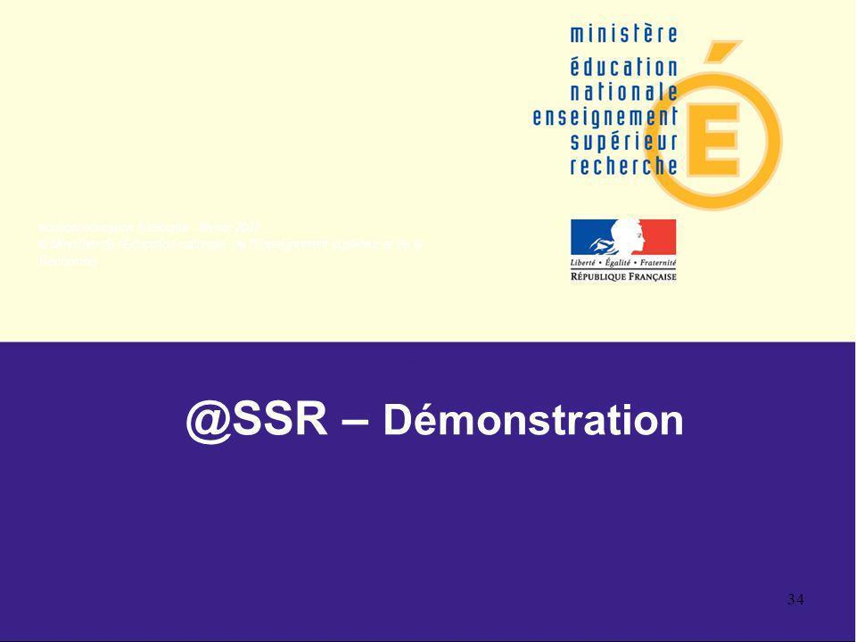 @SSR – Démonstration