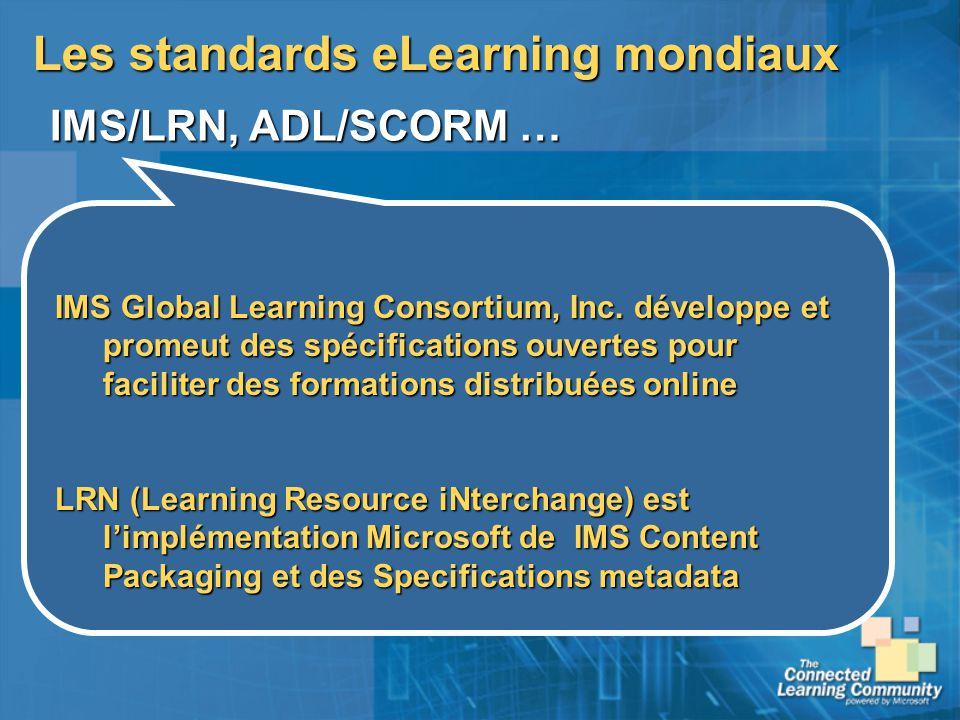 Les standards eLearning mondiaux