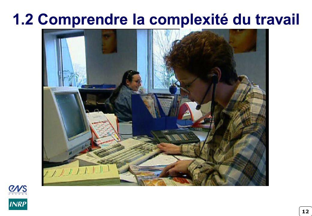 1.2 Comprendre la complexité du travail
