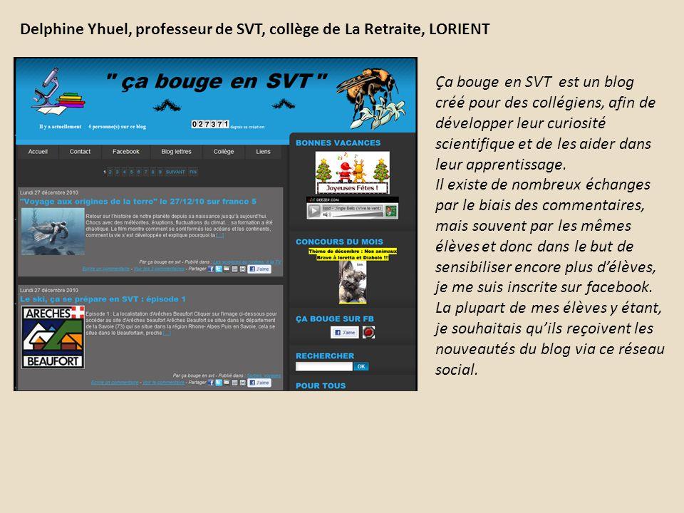 Delphine Yhuel, professeur de SVT, collège de La Retraite, LORIENT