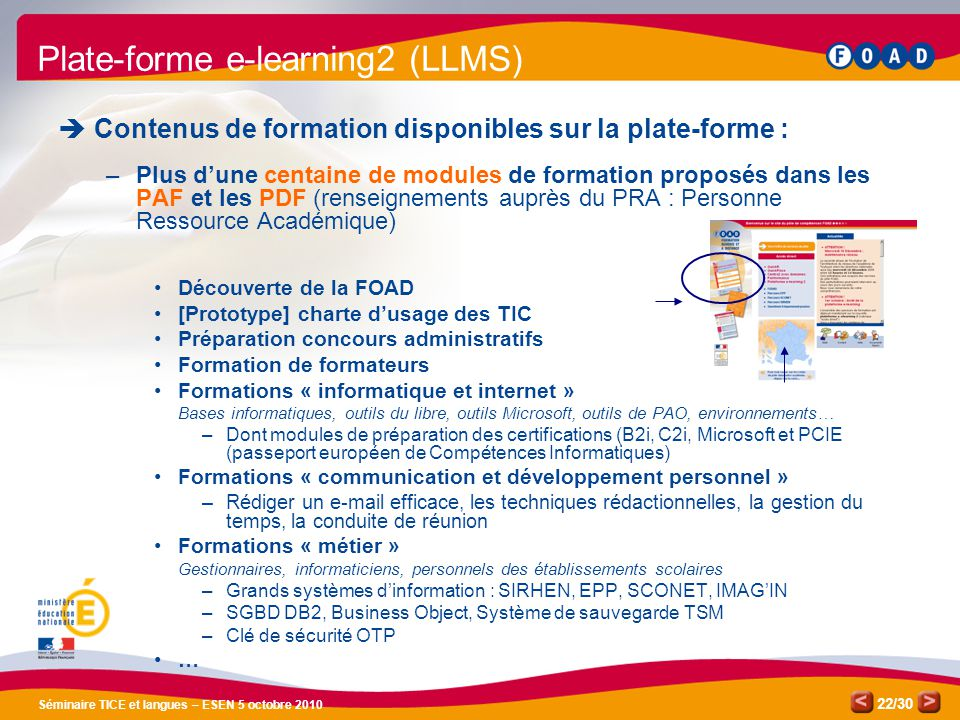 Plate-forme e-learning2 (LLMS)