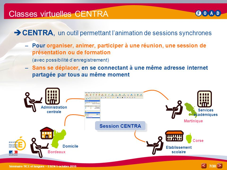 Classes virtuelles CENTRA