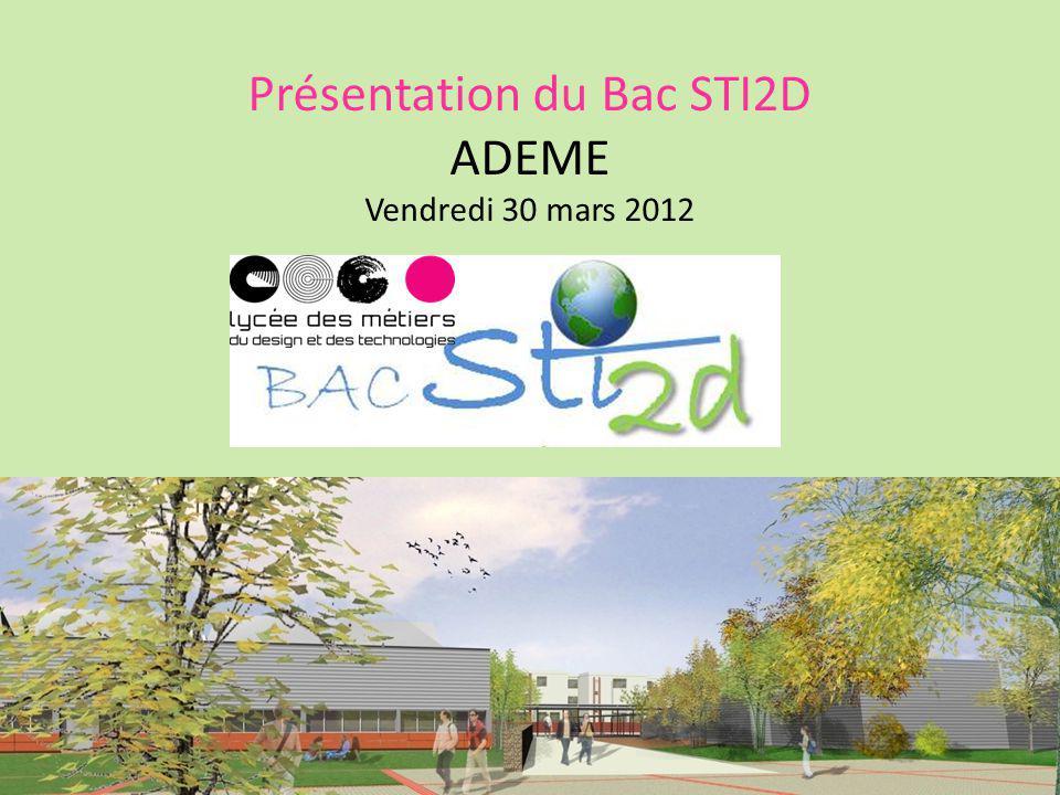 Présentation du Bac STI2D