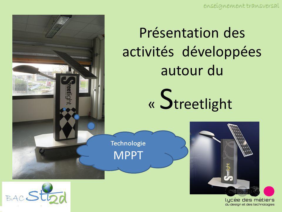 Présentation des activités développées autour du « Streetlight