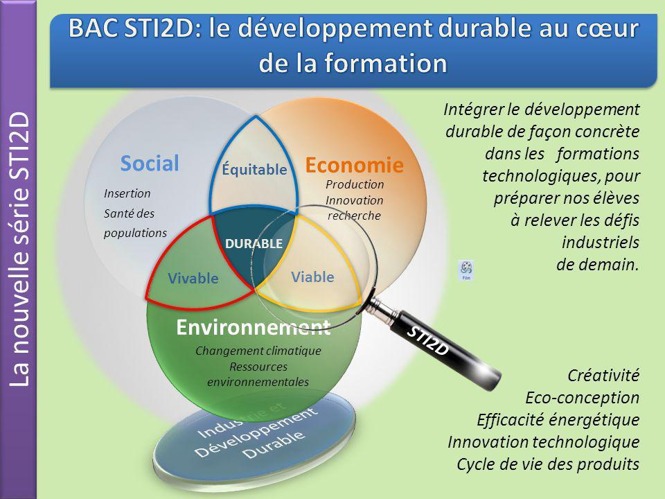 BAC STI2D: le développement durable au cœur de la formation
