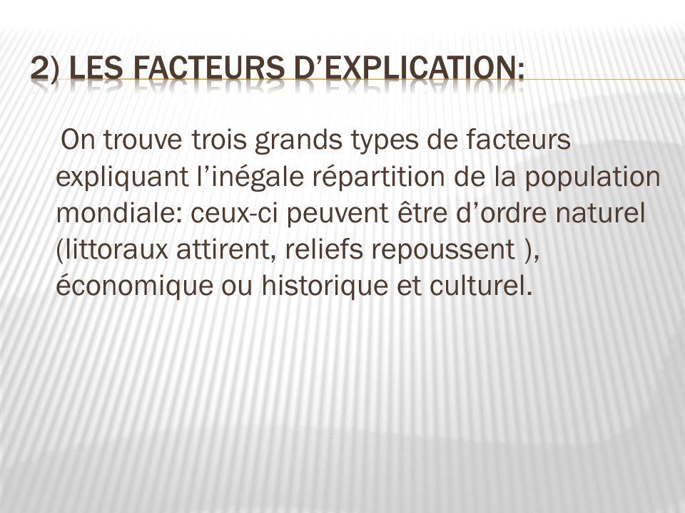 2) Les facteurs d'explication: