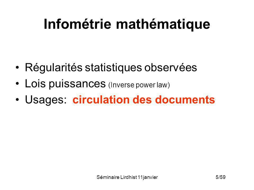 Infométrie mathématique
