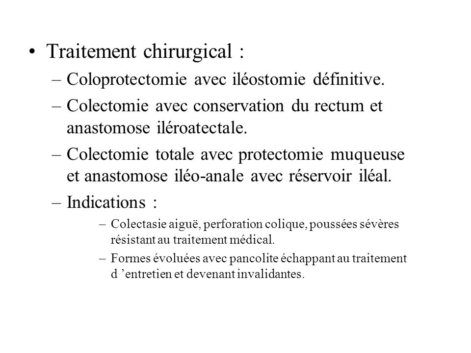 Traitement chirurgical :