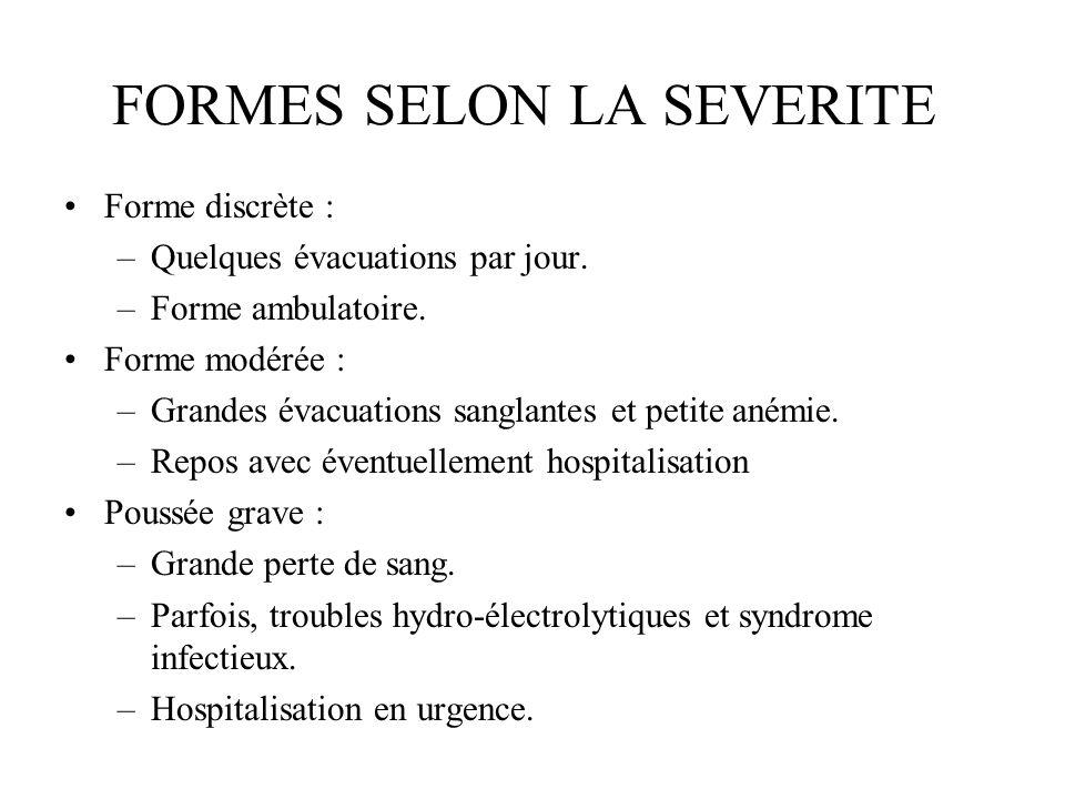 FORMES SELON LA SEVERITE