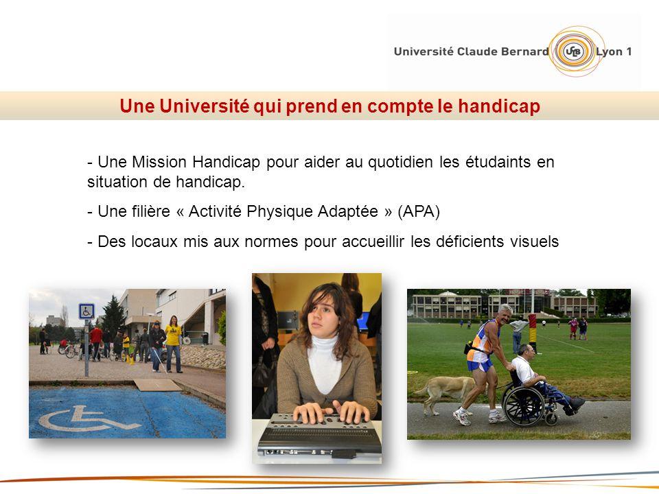 Une Université qui prend en compte le handicap