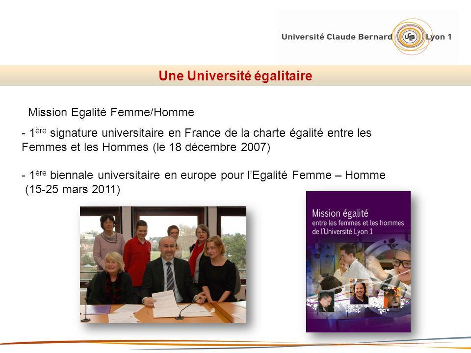 Une Université égalitaire