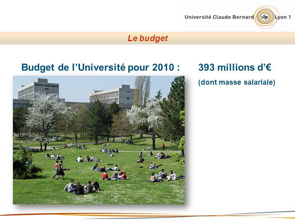 Budget de l'Université pour 2010 : 393 millions d'€