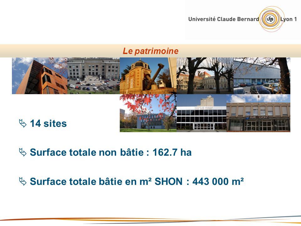 Surface totale non bâtie : 162.7 ha