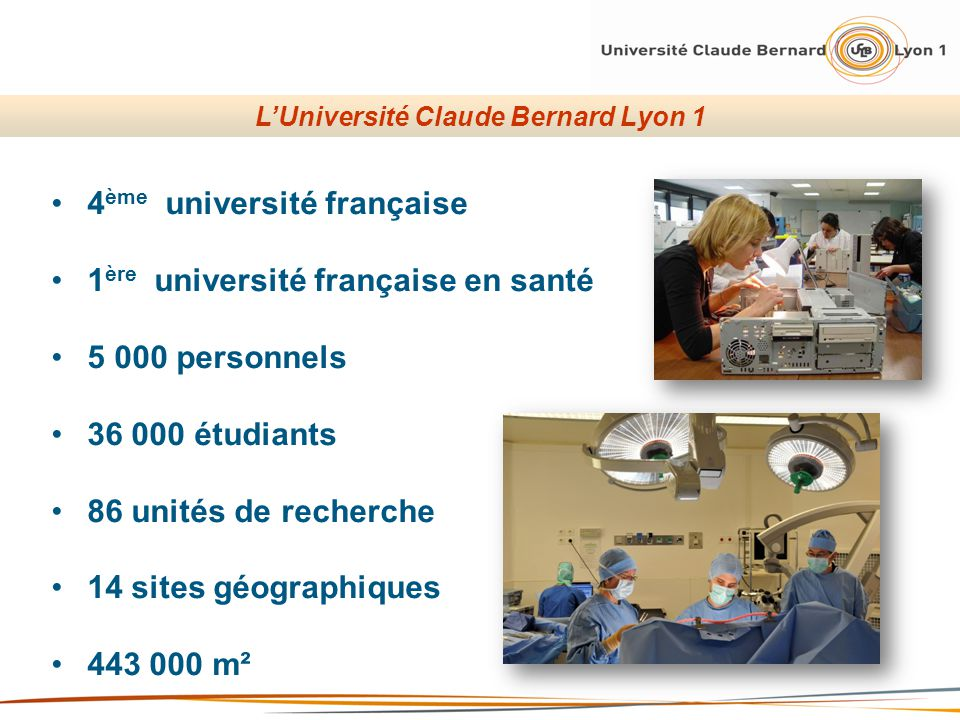 L'Université Claude Bernard Lyon 1