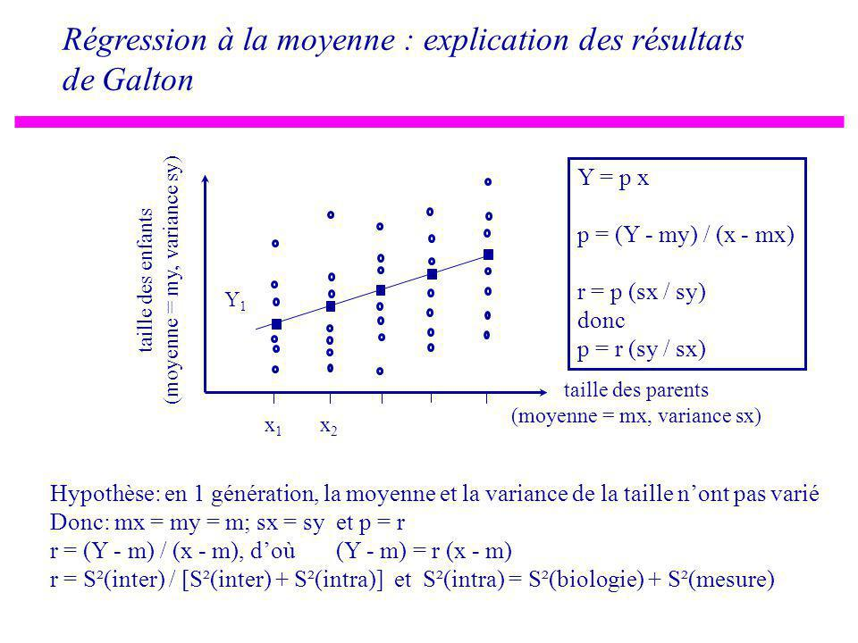 Régression à la moyenne : explication des résultats de Galton