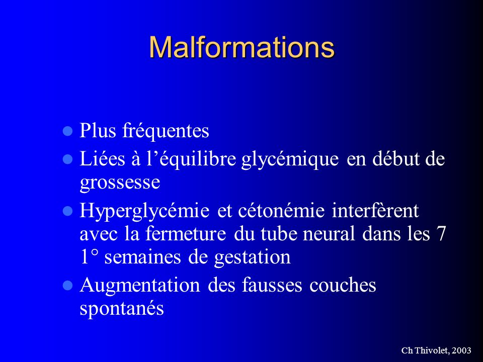 Malformations Plus fréquentes