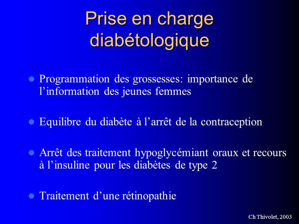 Prise en charge diabétologique